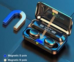 Fone de Ouvido sem fio TWS-F9, Bluetooth, Touch, a prova d'água