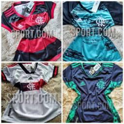 Camisas femininas do Flamengo