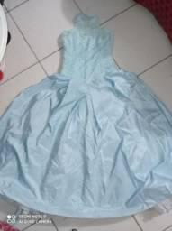 Vestido de festas azul