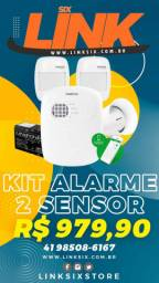 Kit alarme cloud via celular intelbras 2 sensores