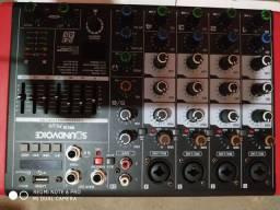 Mesa de som Compacta Nova: Passo no Cartão