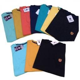 Kit de camisas masculina lisa Basic 9 Peças (Atacado)