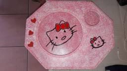 Suporte para prato e copo infantil Hello Kitty