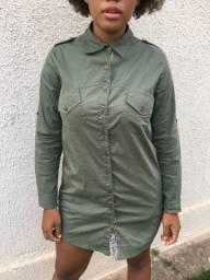Camisete com manga longa verde militar tamanho M