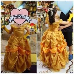 Lindo Vestido cosplay Da Bela (A Bela e a Fera)