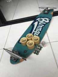 Skate longboard + simulador de surf + capacete