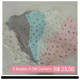Kits de bodies Carter's (EUA) Novíssimos