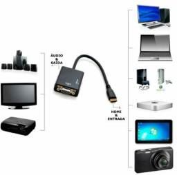 Adaptador HDMI para VGA convensor Promocao