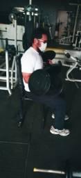 Dumbells pesados para treino corporal