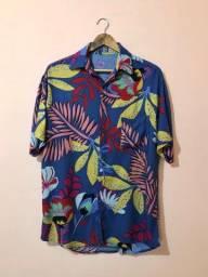 Camisa floral (nova, nunca usada)