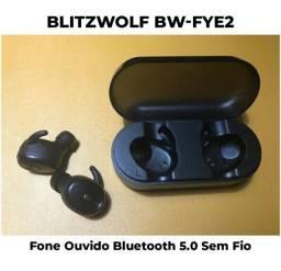 Fone De Ouvido Bluetooth Blitzwolf Bw-fye2 Preto Sem Fio