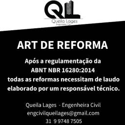 Título do anúncio: ART para Reforma