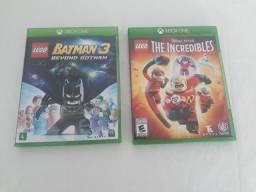 The Incridibles LEGO e Batman 3 LEGO para Xbox one