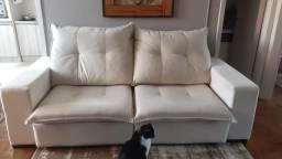 Sofá retrátil grande de 2 lugares