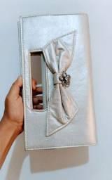 Bolsa de mão para festa cor prata