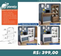 mesa office c/ gavetas e nichos