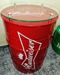 Tambor decorativo Budweiser Barril 200 litros.