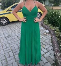 Vendo vestido festa verde