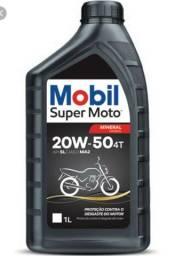 Óleo motor de moto ( mobil 20w50)