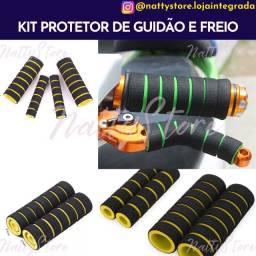 Kit protetor de guidão e freio