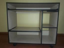 ÓTIMO estado: Mesa para computador/note/impressora com rodinhas