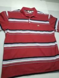 Título do anúncio: camisa lacoste peruana listrada Tamanho xl
