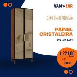 Título do anúncio: Cristaleira VivLuz - Portas de Vidro Reflecta -  Frete grátis