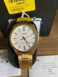 Relógio Casio Dourado em aço inoxidável Novo Original (aceito cartão )