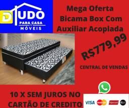 Cama Box Acoplada Com Auxiliar Até 10 X Sem Juros No Cartão