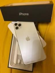 Iphone 11, 64GB, PRO MAX. Cor: Silver. Aparelho usado, mas impecável. Na Garantia.