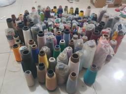 Linhas para costura, aviamentos e elásticos.