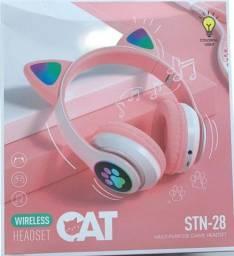 Fone de ouvido sem fio Led Bluetooth