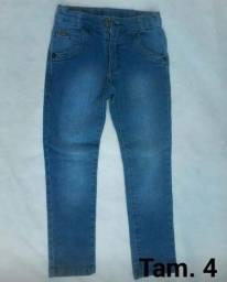 Calças jeans infantil Tam 4