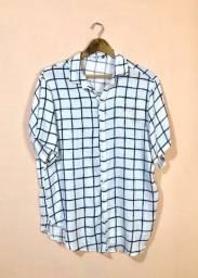 Camisa estampa grid (usada três vezes)