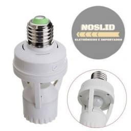 Soquete Sensor De Presença Lâmpada Bocal E27 Movimento 360 Graus