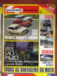 5 revistas quatro rodas antigas