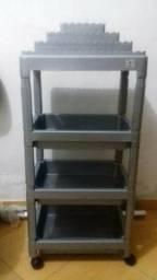 Carrinho espozitor de esmaltes e cadeiras tril