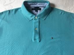 Camisa Tommy Hilfiger Gola Polo Azul XL Usada 916c60e3636