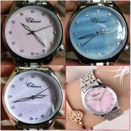 f26882fa943 Com Garantia Relógio em aço Feminino Chenxi