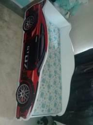 Mini cama carros com colchão