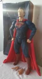 Coleção neca action figure boneco superman completo 45cm escala 1/4