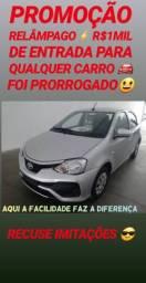 Recuse IMITAÇÕES!! R$1MIL DE ENTRADA SÓ NA SHOWROOM(ETIOS 1.3 AUT 2018)