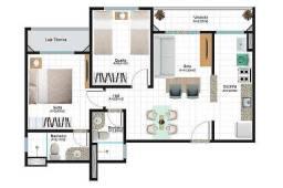 Bonavita Prime com 61m², suíte varanda e elevador por R$ 185 mil