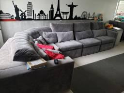 Sofá retrátil e reclinável, de 4,00 X 2,00 em L