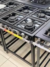 Fogão industrial a gás com forno e sem forno Inox SJC