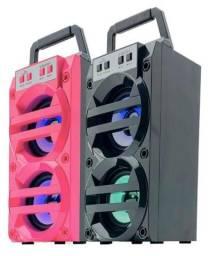 Caixa de Som 2 Alto-falantes Bluetooth Reprodução de Músicas