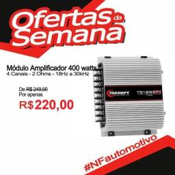 Módulo Amplificador TS 400 watts Classe D 4 canais 100W RMS comprar usado  São Luís