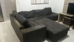 Vendo sofá+puff urgente