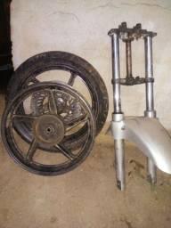 Roda e suspensao da twister