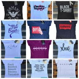 Camisas T-shirts femininas.